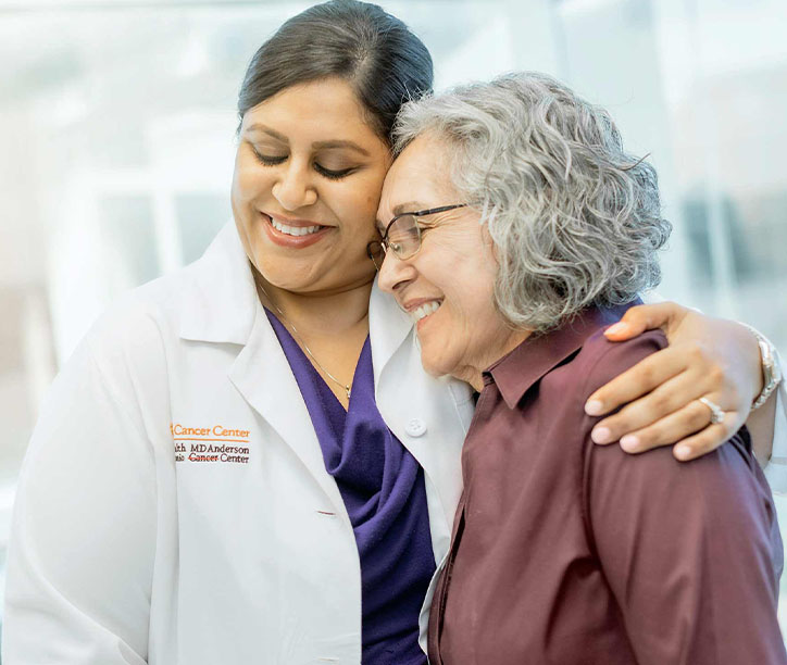 Doctor and Patient embracing